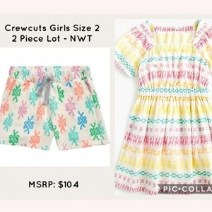 Crewcuts Embroidered Dress & Sailors Knot Shorts
